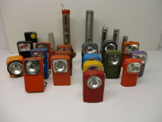 Collection of 24 flashlights
