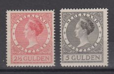 "The Netherlands, 1930 - Queen Wilhelmina, ""Veth"" version - NVPH 164B and 165B Comes with a certificate"