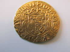 Portugal - D.João II (1481-1495) - Gold Cruzado (324 Reais) - Mint in Lisbon on 1485-1495 - Very Rare