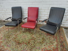 Manufacturer unknown - lot with three vintage chairs