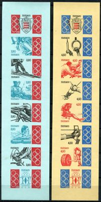 Monaco 1993 - IOC Olympic Games imperforated - Yvert Carnet no. 10a and 11a