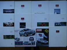 1992 - 1996 - ROVER 800, 800 Coupé, 600, 400, 200, 100, Metro - Mixed lot of 10 oversized sales brochures + 2 roadtests