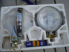 A SET of two new SPOTLIGHTS by I P F  with a diameter of 145 mm from the 1970s and 1980s