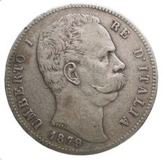 Kingdom of Italy - Umberto I 1878-1900. 5 Lira, 1879 Silver