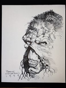Original drawing - Bernie Wrightson - DC Comics - Swamp Thing - (1999)
