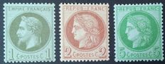 France 1862/72 - Selection of 3 stamps, Classic period - Yvert no. 25, 51, and 53