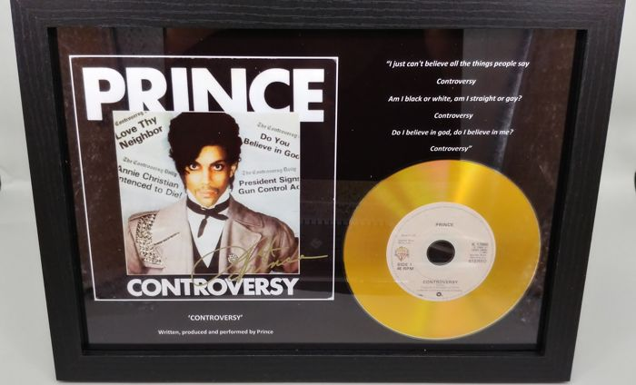 Prince Controversy Gold Presentation Disc