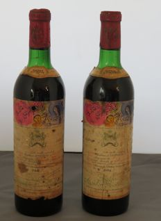 1970 Chateau Mouton Rothschild, 2ème Grand Cru Classé - 2 bottle (75cl)