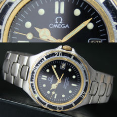 Omega Seamaster Professional 200M Quartz Date Steel Gold Mens Watch