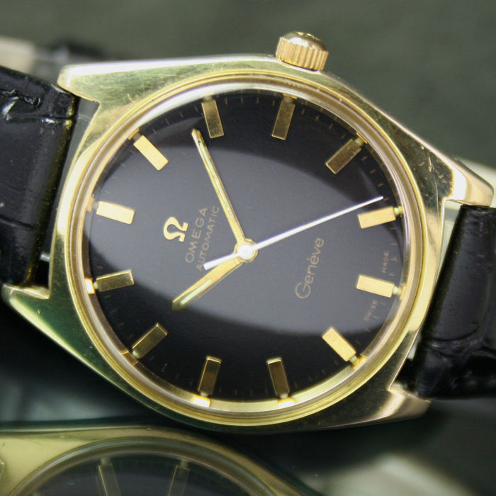 Omega Geneve Automatic Date Roll Gold Steel Mens Watch
