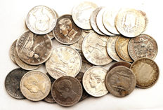 Spain - Centenary of the Peseta - Lot of 28 silver coins - 160.5 g - Madrid