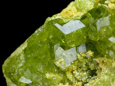 Gemmy Demantoid garnets - 6.5 x 5.3 x 2.5 cm - 85 gm