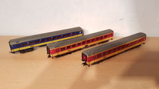 Märklin H0 - 4262/4263 - 3 Passenger carriages 1st and 2nd class of the NS with lighting