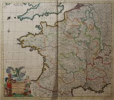 France; J. Danckerts - Accuratissima Galliae Tabula (...) - ca. 1690