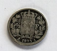 France - ½ Franc 1823 A (Paris) - Louis XVIII - Argent