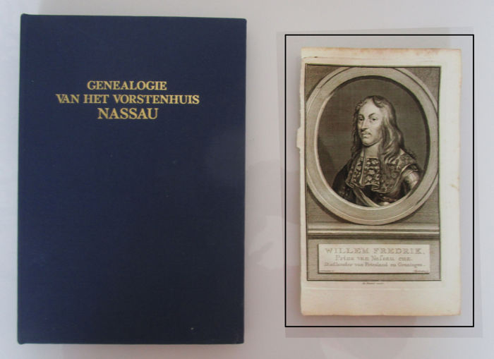 18th century copper engraving by Willem Frederik of Nassau (1794) + A.W.E. Dek - Genealogie van het Vorstenhuis Nassau (1970)