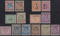 Dutch East Indies 1900/1908 - Selection of overprints