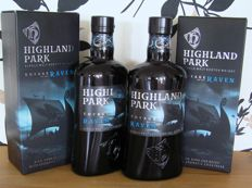 2 bottles - Highland Park Voyage of the Raven