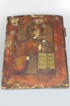 Icon Christ, estimated 19th century (Russsisch)