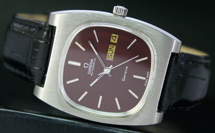 Omega Geneve Automatic Day Date Steel Mens Watch