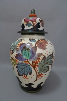 Plateelbakkerij Zuid-Holland - Large lidded vase