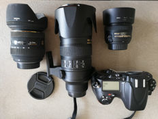 Nikon D800 Set  2012 with lenses, transport case, accessories