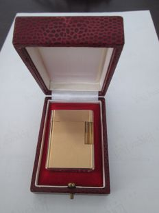 S.T. Dupont Paris lighter 20u gold plated flip top ca. 1970