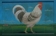 Unknown artist (20th century) - Rooster in a landscape Realism