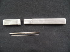 Silver needle case, The Netherlands, 19th century