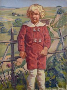 Tare. (20th century) A boy in a red suit.