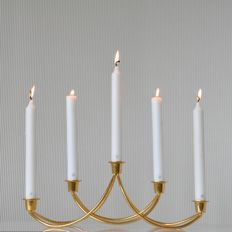 Maria Berntsen for Georg Jensen - Gold plated five candles candlestick made from stainless steel