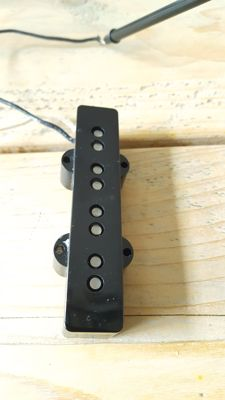 Lindy Fralin Jazz Bass NECK PICKUP! with black covers.