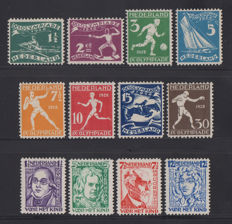 Netherlands 1928 - Olympic Games Amsterdam and Children's stamps - NVPH 212/219 + 220/223