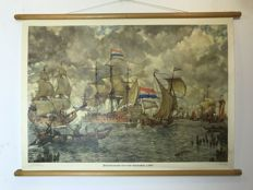 "Old school poster ""Incoming fleet for Amsterdam"""