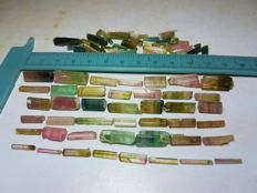 Colourful Tourmaline crystal lot - 30gr - 150ct