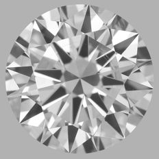 0.57ct  Round Brilliant  D IF  3EX GIA- original image -10x #WD2162