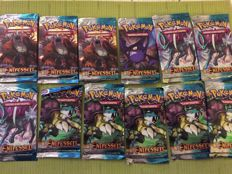 Pokemon TCG HS Unleashed Booster - 12 Booster Packs - GERMAN (2010)