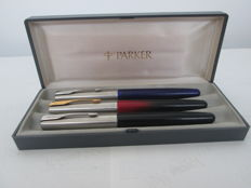 Kit of 3 Parkers - two fountain pens and one rollerball