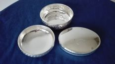 Trussardi Silver Plated tobacco box - Two jewellery bowls in Silver 1000