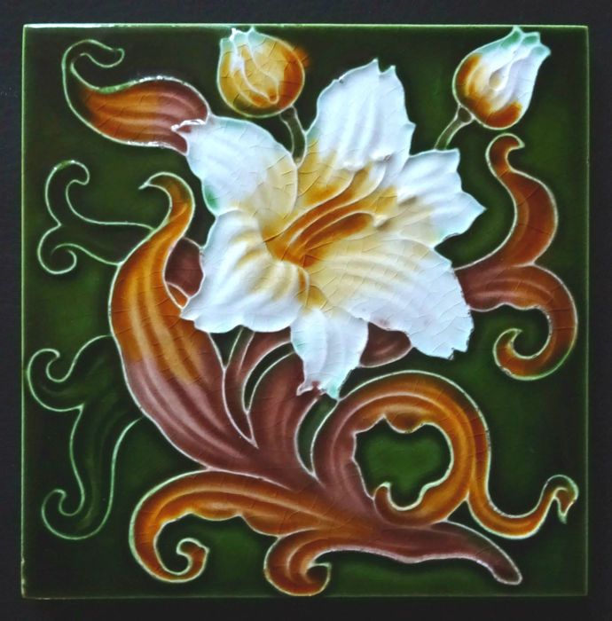 Henri Richards - Art Nouveau Tile