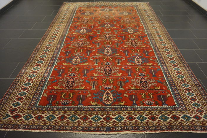 Exclusive handwoven Persian palace carpet Kazak Persian carpet 220 x 330 cm Tapis Tappeto carpet