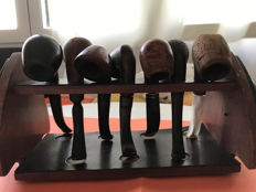 Lot of 7 wonderful wooden pipes from the last century