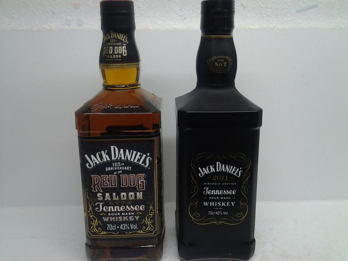 2 bottles Jack Daniels 125th Anniversary of the Red Dog