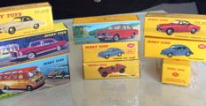 Atlas-Dinky Toys - Scale 1/43 - Lot of 9 German cars: VW, Mercedes-Benz, & BMW