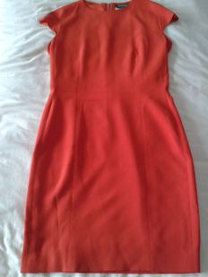 Max Mara - Women's exclusive formal dress, orange colour (sheath model)