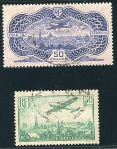 France 1936 - Airmail - Yvert no.: 14, 15.