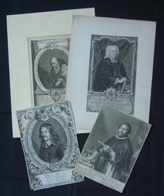 Diverse makers (17th/18th century) - Lot of 4 portraits