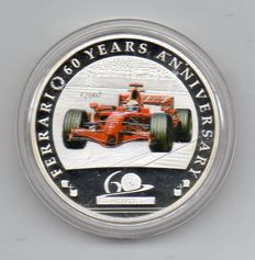 FERRARI 60 years Republic of Palau coin - 2007 - 1 Dollar - 60th Ferrari Anniversary