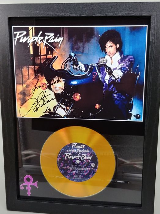 Prince Purple Rain Gold Presentation Disc