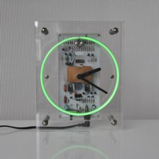 Nam Kwong Electric Co. Ltd - unique Neon perspex clock with neon seconds indicator
